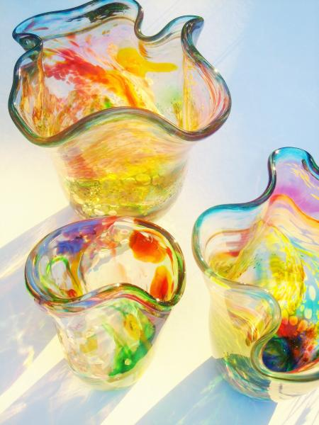 Beautiful, unique, colourful glass vases