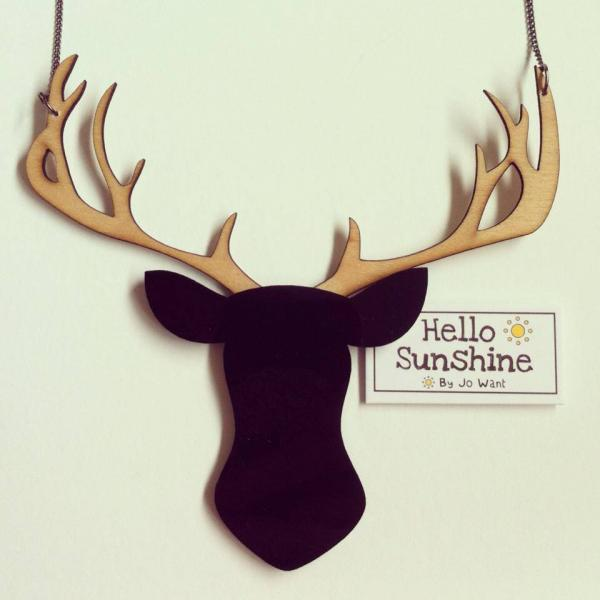 Great Stag Necklace. Hello Sunshine by Jo Want