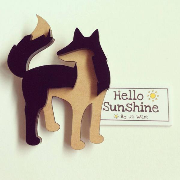 Fantastic Fox Brooch. Hello Sunshine by Jo Want