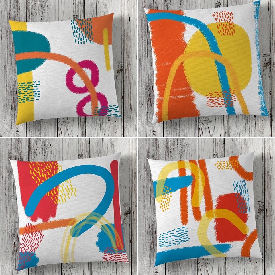Cushion, abstract, modern