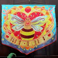 Silk painted banner