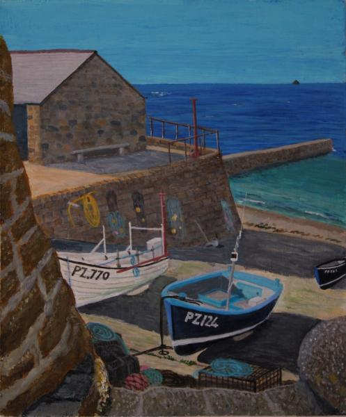 Beside the Roundhouse, Sennen Cove, Cornwall