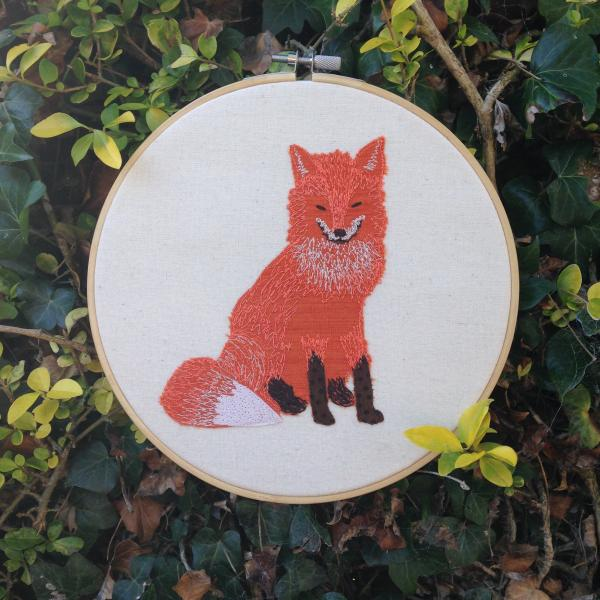 Freehand Machine Embroidery, Fox