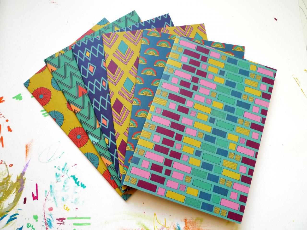 Anna Treliving Set of Patterned Notelets