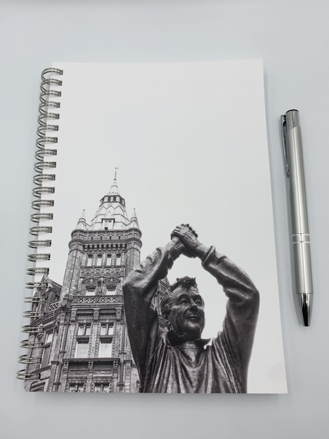 A5 Notebook of Brian Clough - Sandrabphotography