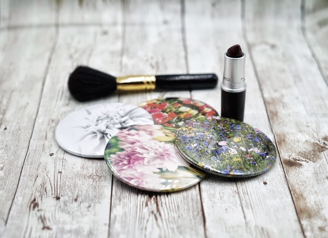 Pocket Mirrors with my prints  - Sandrabphotography