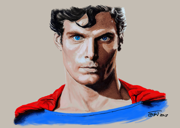Toby Anderton MAN OF STEEL digital painting