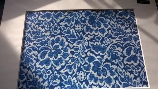 original print of Nottingham Cluny Lace. Cluny Lace is the last Nottingham Lace manufacturers, using traditional methods.