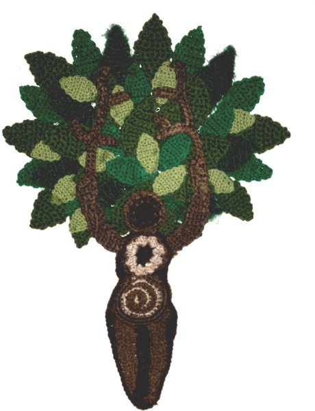 Freeform Crochet Tree Goddess