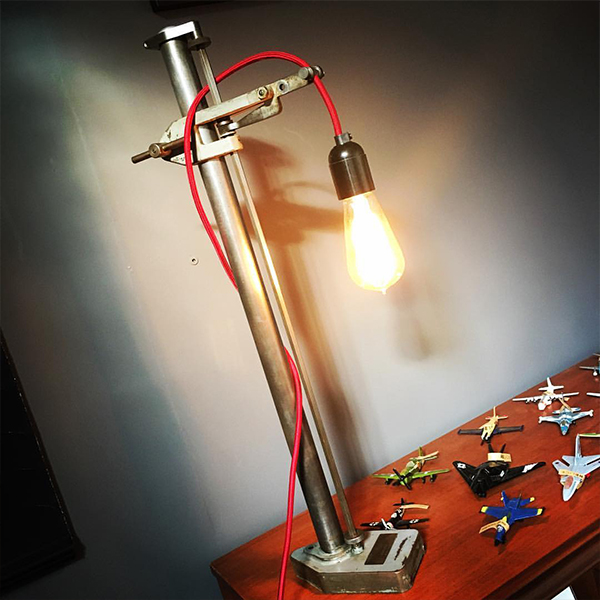 Upcycled table light